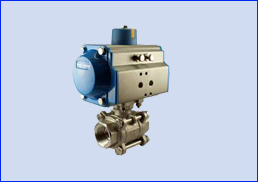 PNEUMATIC ACTUATOR WITH BALL VALVE