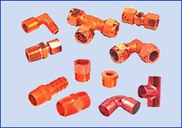 Brass Flare Ferrule Fittings Copper Fittings